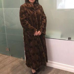 Full length mink coat